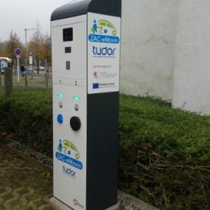 Station de recharge developpe pour un centre de recherche public luxembourgeois