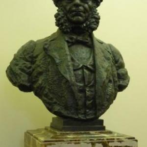 Le buste de C. Franck dans le hall du Conservatoire royal de Liege