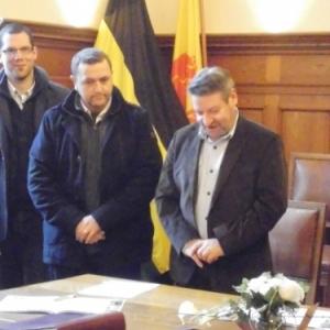 Presentation du projet par M. Noel, Directeur de l'ecole de Geromont