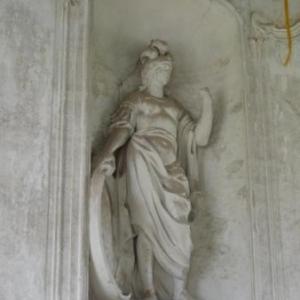 Statue de Minerve en stuc