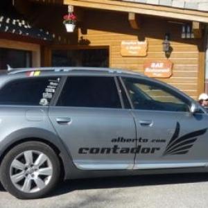 La voiture personnelle d'Alberto Contador