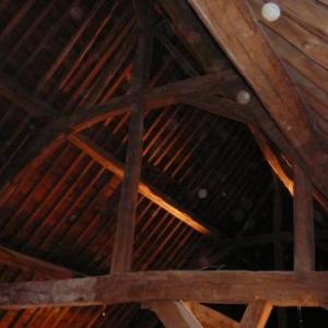 Les magnifiques structures des combles du Monastere qui ont accueilli la ceremonie d'ouverture