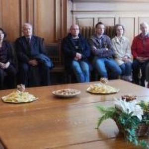 Les invites a la reception de l'administration communale