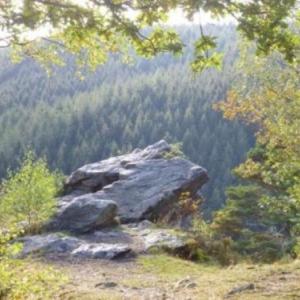 Rocher de Falize domine la rive gauche de la Warche