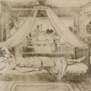 """"""" La chambre """" ( Paul DELVAUX )"""