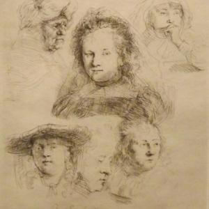 Etude de la tete de Saskia et autres ( 1636 )