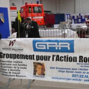 Le vaste stand du GAR ( Groupement pour l'Action Routiere )