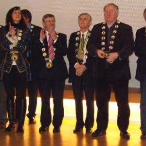 Reception de l'Orde do Cwarme : + M. Piette. Ne figurent pas : Ms Bacquelaine et Reynders