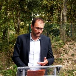Le Bourgmestre JP BASTIN lors de son intervention
