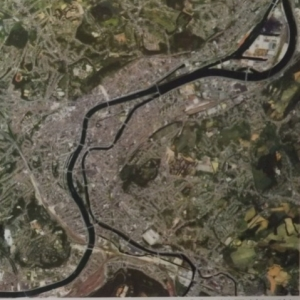 Liege, vue de l' espace depuis le satellite Ikonos ( 30.06.2000 ) en resolution spatiale 4 m