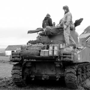 Un char en action