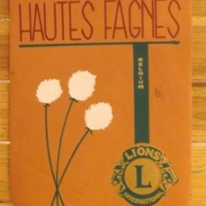 Le fanion du Lions Club des Hautes - Fagnes ou figurent des linaigrettes