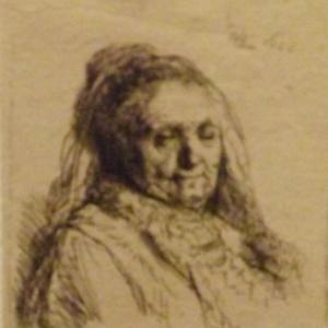 La mere de l'artiste ( 1628 )