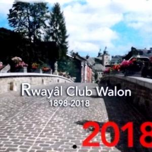 Le calendrier 2018 du Royal Club Wallon
