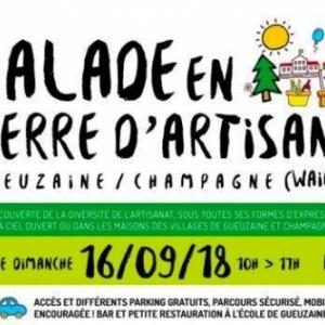 Balade en terre d'Artisans à Gueuzaine et Champagne ( Waimes )