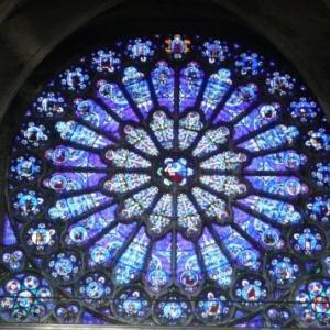 Le grand vitrail circulaire