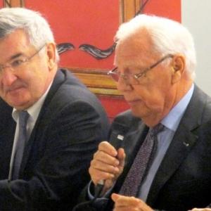 M. le Ministre Colin et M. Rene Schyns
