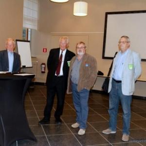 Conference de presse : M. Denis, Echevin de la Culture ; M. Halleux, President de MalmedyFolklore; les auteurs du livre ( Photo : D. Dosquet )