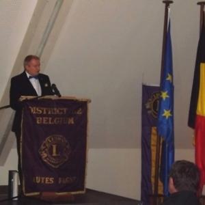 M. Rene Michel, President du Lions Club des Hautes - Fagnes