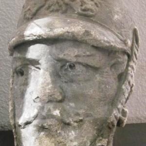 La tete du Peter Pruss, statue qui se dressait Place de Rome