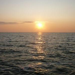 Volendam : coucher de soleil sur le Markermeer