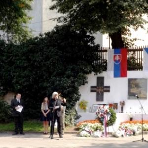 A Poprad ( Slovaquie ) : Ceremonie du 50eme anniversaire