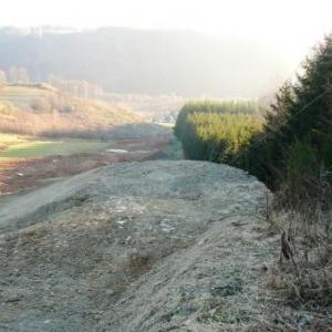 Le projet de piste et l'ancienne remontee mecanique