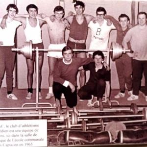 Le club d'athletisme en 1965