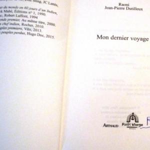 L'atographe de Razoni en bas de page