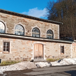 La salle de gymnastique où s'érigerait l'hôtel ( photo F. Detry )