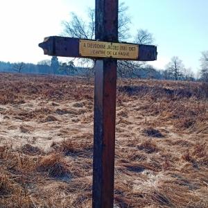 La croix Dieudonné JACOBS, peintre des fagnes