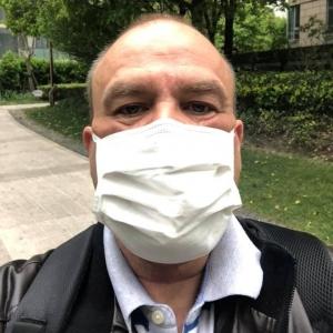 Premier jour au bureau, masque obligatoire même à l intérieur. (  à Yangpu, Shanghai, China )