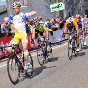 Antoine Demoitie, victorieux de la derniere etape Lierneux - Lierneux.