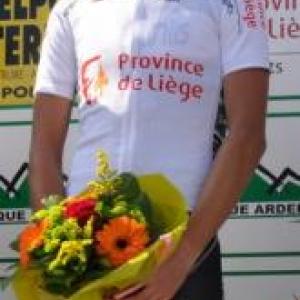 Michael Vink (NZ) maillot blanc des monts.
