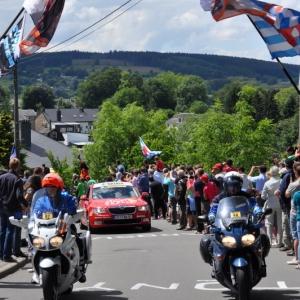 Les supporters de Frank Schleck et de son equipe Leopard Trek Nissan etaient nombreux a Lierneux!