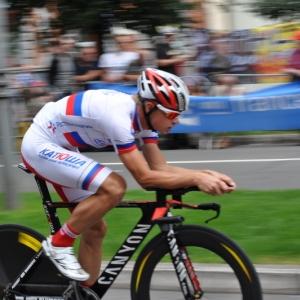 Le champion de Russie du CLM Vladimir Gusev.