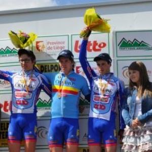 1e Wouter Leten, 2e Piette Julien et 3e Vandenhoudt Jens.