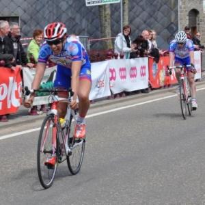 Lierneux. Championnat provincial cycliste pour juniors.