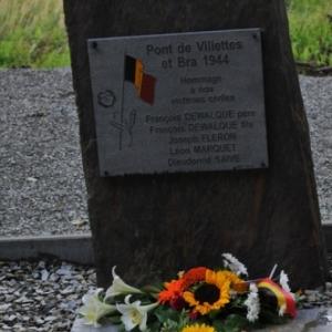 Nouvelle pierre dediee aux victimes civiles inauguree a Bra