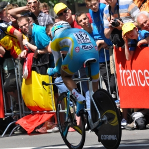 Le sprinter de l'equipe Astana Borut Bozic.