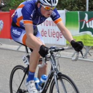 L un des deux representants de l equipe CC Chevigny-Libramont, Robin Bleus. Il termine 6eme a 1.09 et premier non UCS.