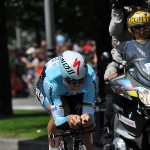 Le coureur allemand de omega pharma - Quick step, Bert Grabsch.