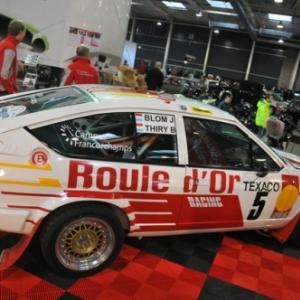 L'Alfa Romeo GTV6 de Bruno Thiry, ici au Motor show de Liege trop vite contrainte a l abandon