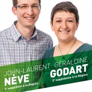 Geraldine Godart et John Laurent neve