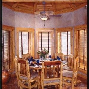 Salle a manger hexagonale WHITE CEDAR et traditionnel