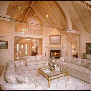 Finitions interieures moderne en lambris de cedre blanc