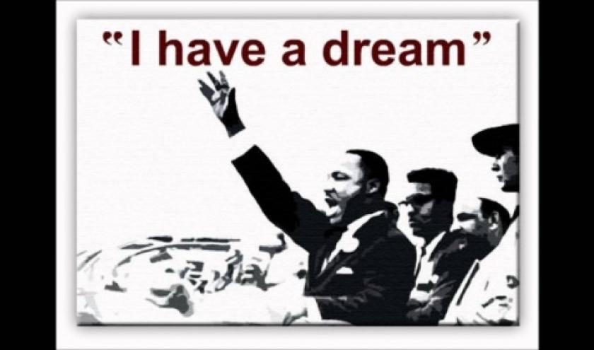 """Le """"j'ai fait un reve"""" de Martin Luther King."""