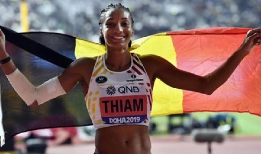 Nafissatou porte bien haut les couleurs du drapeau belge