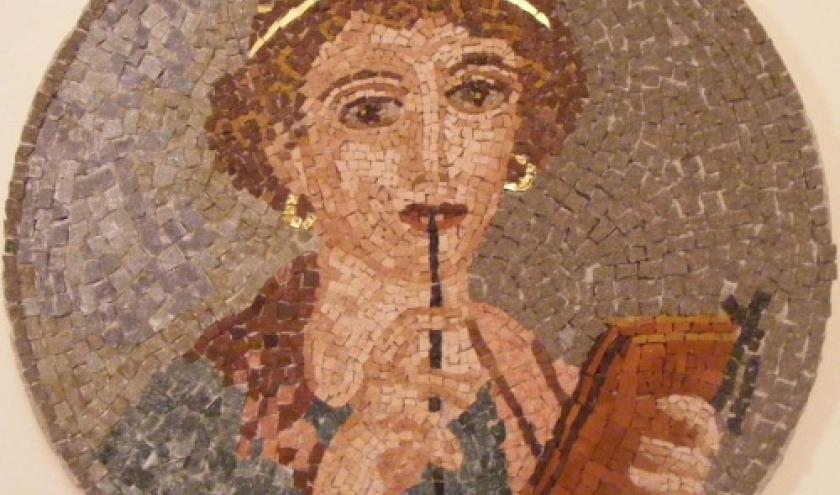 Sappho (mosaique, Pompei).