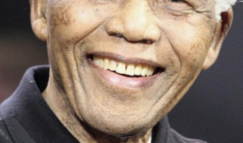 """Nelson Mandela, le """"poster"""" publicitaire pour la campagne de prières."""
